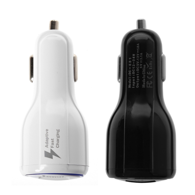 12V-24V Dual USB 3.1A Car Quick Charger Cigarette Lighter QC 3.0 Fast Charging For Samsung iPhone/Google/Sony xperia/HTC/LG