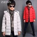 Новый Большой Мальчик Куртки Snowsuit Детей Зимние Мальчики Парки Вниз Пальто Одежда Для Зимнего Верхней Одежды Дети Потепление Пуховик GH227