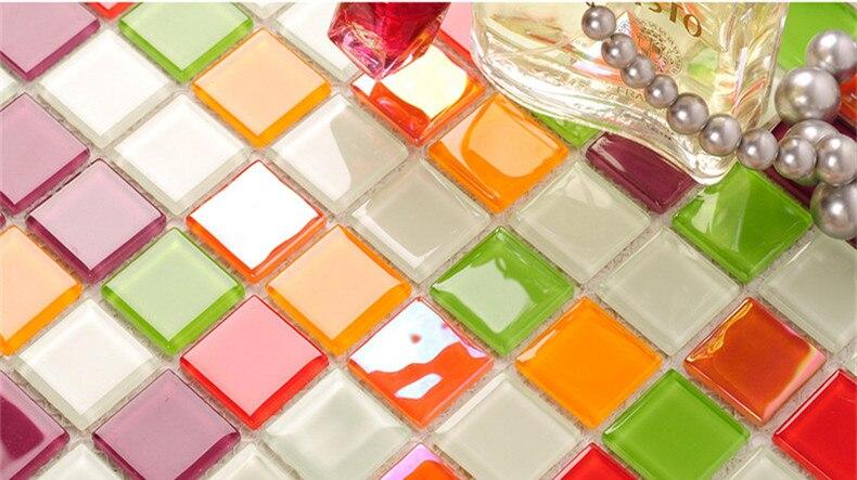 Смешанный кристалл стеклянная мозаика, щитка бассейн Декор плитки, Кухня, Ванная комната Ванна дома обои, LSNSJ02