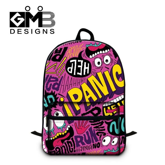 Dispalang Large Womens Mens Graffiti Laptop Backpacks Brand Designer  Teenager Girls Boys Backbag Kids School Bag Casual Mochila 9e2cf3ebe097c