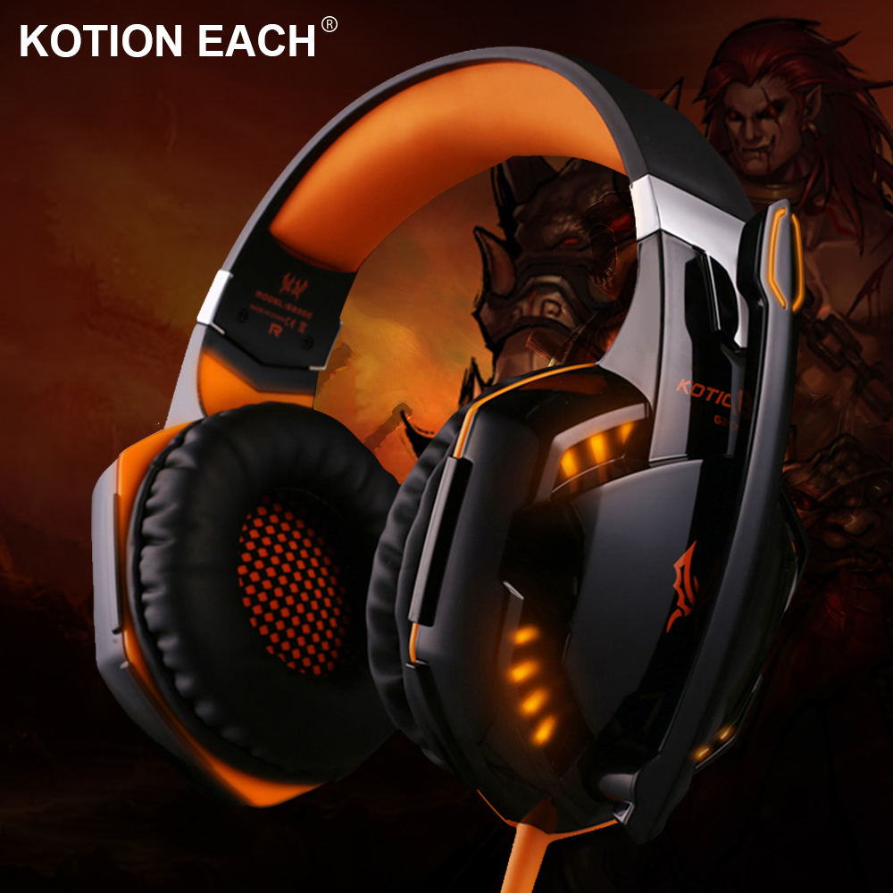 Gaming Headset Over-Ear Headphones Ear Phone Casque Stereo Earphone PC Gaming Headphone with Mic Led Light For Computer Desktop 2016 pc780 over ear hifi stereo gaming headset earphone stereo bass led light headband headphone with mic for pc gamers