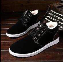 Плюс утолщение Осень Зима Уличная обувь для отдыха мужские ботинки теплая одежда Хлопок обувь Англия сапоги мужская обувь зимние сапоги