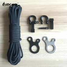 Outdoor climbingCamping Tent Cord Rope Fastener Carabiner Hook Hanger Tightener Paracord Buckles EDC Survival Travel Kits