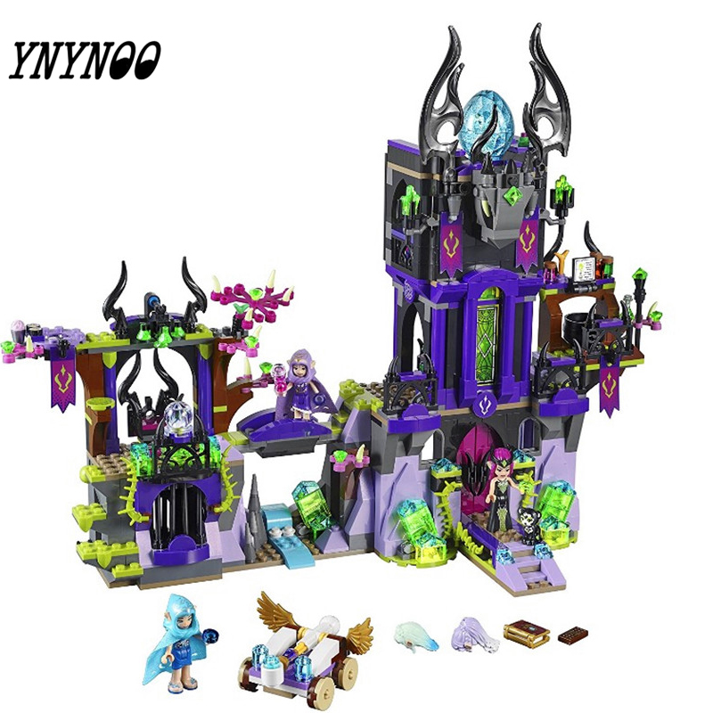 (YNYNOO) Elves 10551 Wizard Series 41180 Laguna Dark Magic Castle Diy Blocks Toys Compatible with 41180 Block Toys 10551 elves ragana s magic shadow castle building blocks bricks toys for children toys compatible with lego gift kid set girls