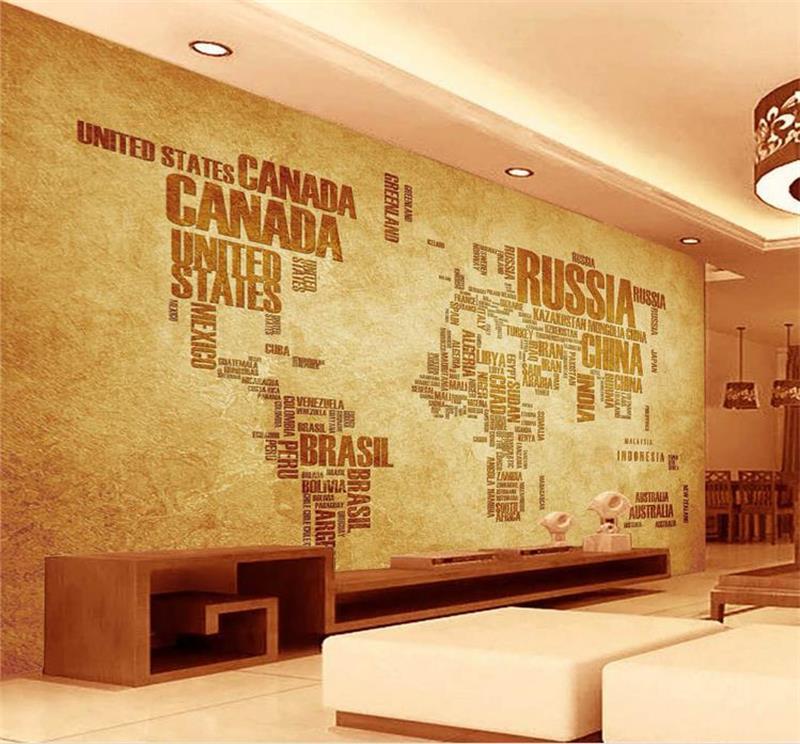 3d room wallpaper custom photo murals non-woven wall sticker living room English world map murals wallpaper for walls 3d
