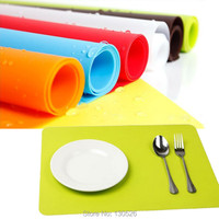 1PCS Hot Rectangle Silicone Table Heat Resistant Mat Cup Coaster Cushion Placemat Pad Table Mat Set