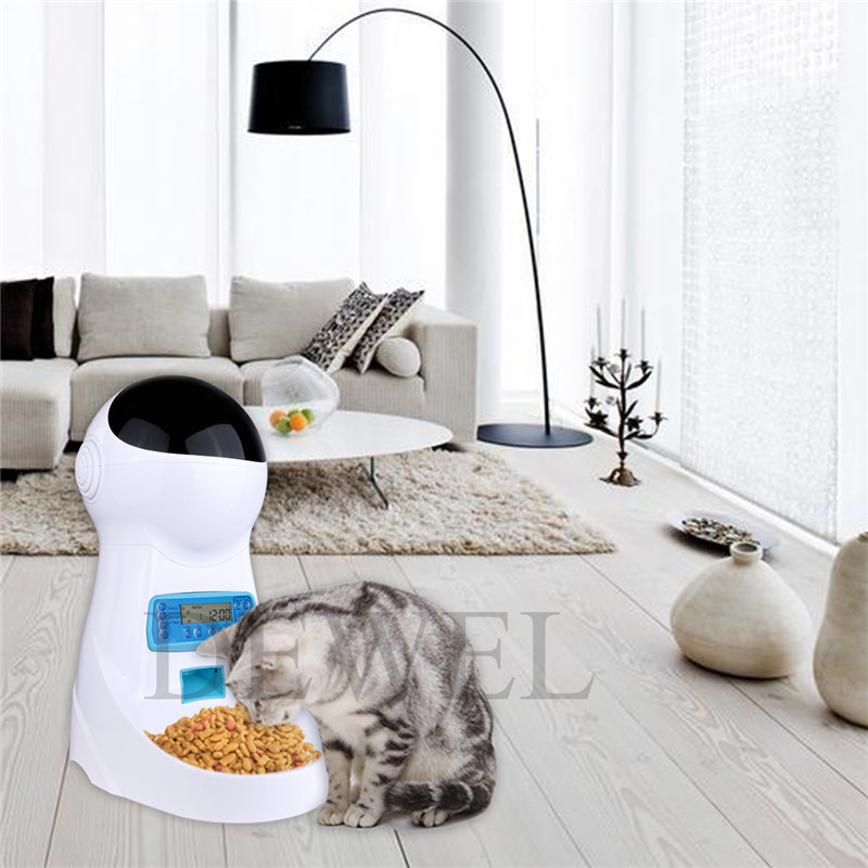 Pet Supplies 3l Automatic Pet Food Feeder Dispenser With Timer Pets Bowl For Medium Cat Dog Cat Supplies