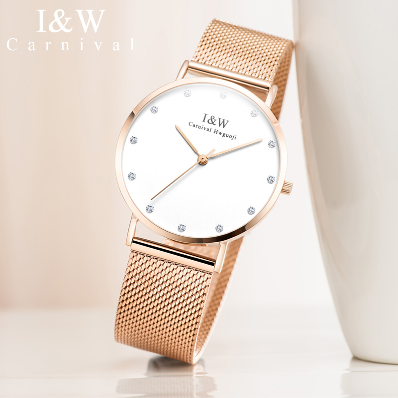 JSDUN автоматические механические часы из нержавеющей стали, лаконичные минималистичные водонепроницаемые женские часы, женские роскошные ч... - 2