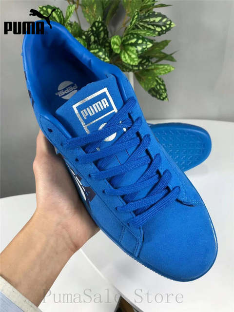 the best attitude f30f1 ed769 New Arrival Puma Suede Classic X Pepsi Mens Blue Suede Lace Up Sneakers  366332-02-01 Badminton Shoes Size EUR39-44