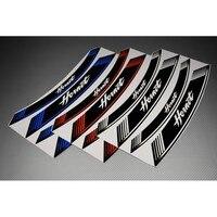 Motorcycle Rear Wheel 8X Edge Tires Stick With Stripe Sticker For HONDA HORNET