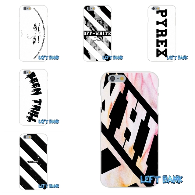 b743743fd Off White Virgil Abloh Soft Silicone TPU Transparent Cover Case For iPhone  4 4S 5 5S 5C SE 6 6S 7 Plus
