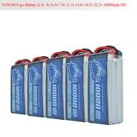 RC Lipo 3S 4S Battery 10000mAh 2S 5S 6S 7.4V 11.1V 14.8V 18.5V 22.2V 30C 60C T DEAN XT60 TRX XT150 Drone AKKU For RC