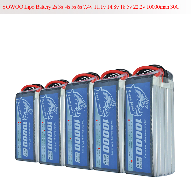 RC Lipo Battery 10000mAh 2S 3S 4S 5S 6S 7.4V 11.1V 14.8V 18.5V 22.2V 25C 50C XT150 Drone AKKU For RC Helicopter Airplane цена 2017
