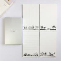 Wild Animal Letter Paper Slim Literature Leaf Stationery Bookmark Literature Handwriting Practice Paper Pen Paper Graph