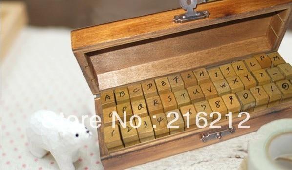 42 pcs/set Creative letters and numbers stamp gift box wooden stamp wooden box Decorative DIY funny work 3 styles kitlee40100quar4210 value kit survivor tyvek expansion mailer quar4210 and lee ultimate stamp dispenser lee40100