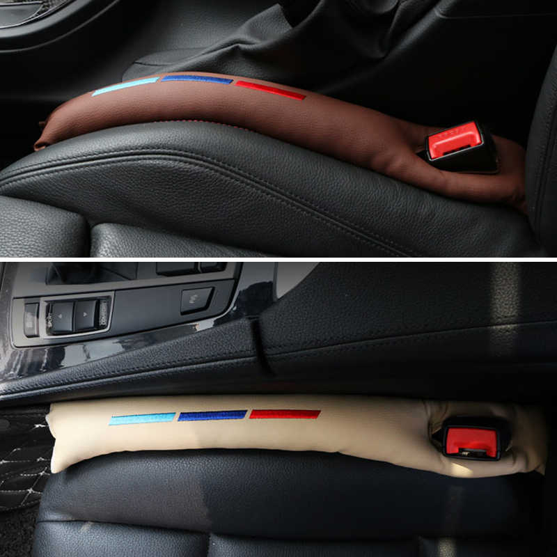 a636610ab036 ... RRX Faux Leather Car Seat Gap Pad Fillers Spacer Storage Slot Plug For Bmw  E46 E39 ...