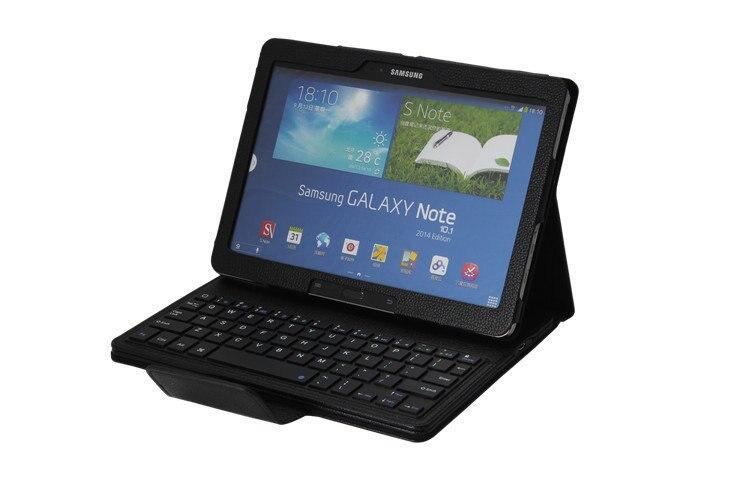 Amovible Sans Fil Bluetooth Clavier + Housse En Cuir Stand Pour Samsung Galaxy Note 10.1 P600 Tablet Cas Teclado Bluetooth