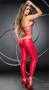 Image 5 - Donne Sexy Lingerie Erotica Tuta Pole Dance Faux Leather Catsuit Lingerie Hot Erotic Latex Body Teddy Sexy Lingerie Nero