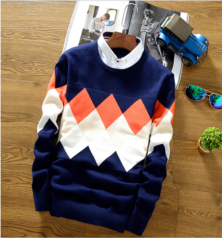 Luxury Brand Woolen Sweater Best Quality Men Pullover Fashion Design