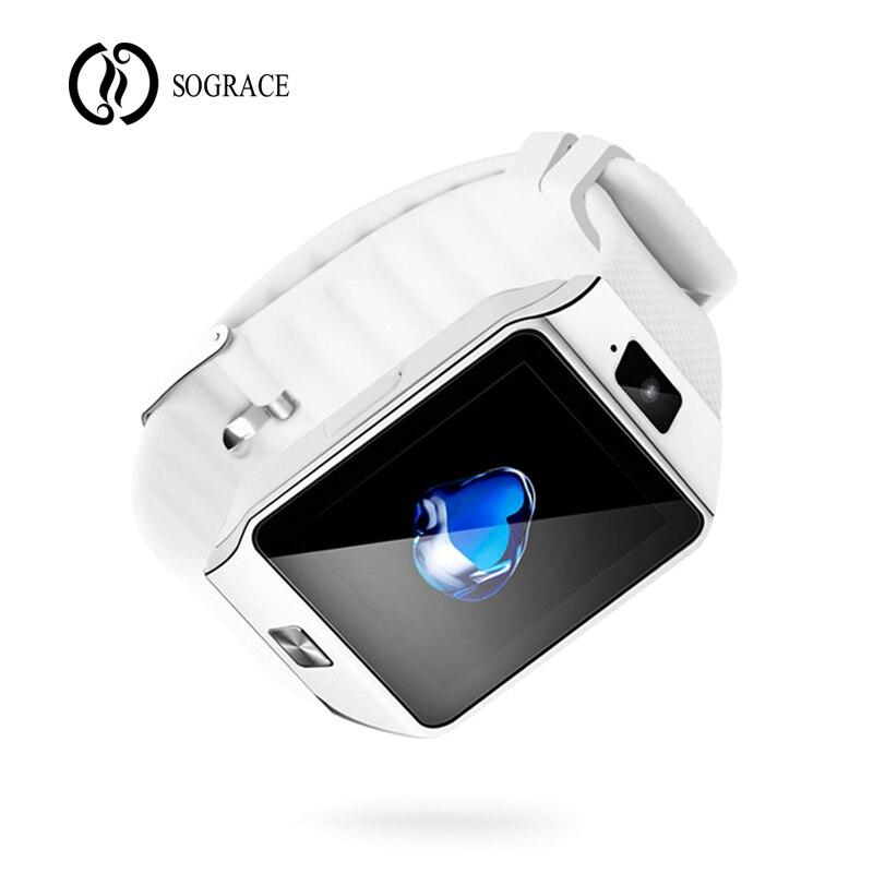 Sograce Bluetooth Uhr Smart DZ09 Smartwatch Anruf SIM TF Kamera Smart Uhr für Android Xiaomi Samsung HUAWEI PK Y1 q18