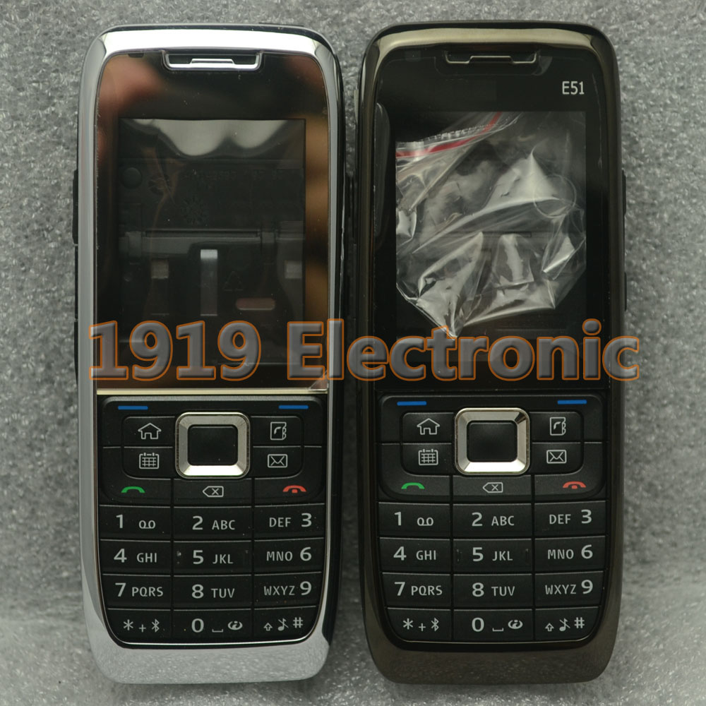 Case Russian-Keypad Nokia Mobile-Phone-Housing-Cover New Or English E51--Tools Full-Complete