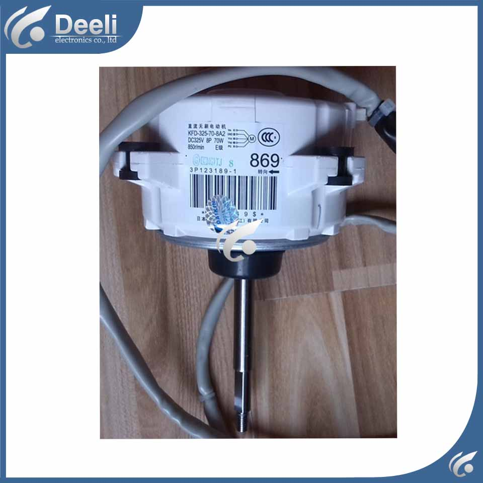 Used good working for Air conditioner inner machine motor RMX160CMV2C 869 KFD-325-70-8A2 3P123189-1 second-hand Motor fan brand new smt yamaha feeder ft 8 2mm feeder used in pick and place machine