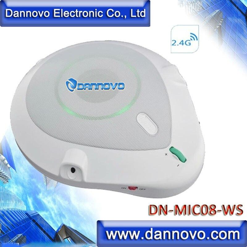 392524b80 Dannovo 2.4g inalámbrico micrófono omnidireccional 360 grados Pickup,  altavoz incorporado, plug and play, para Ventanas, mac, Skype, ...