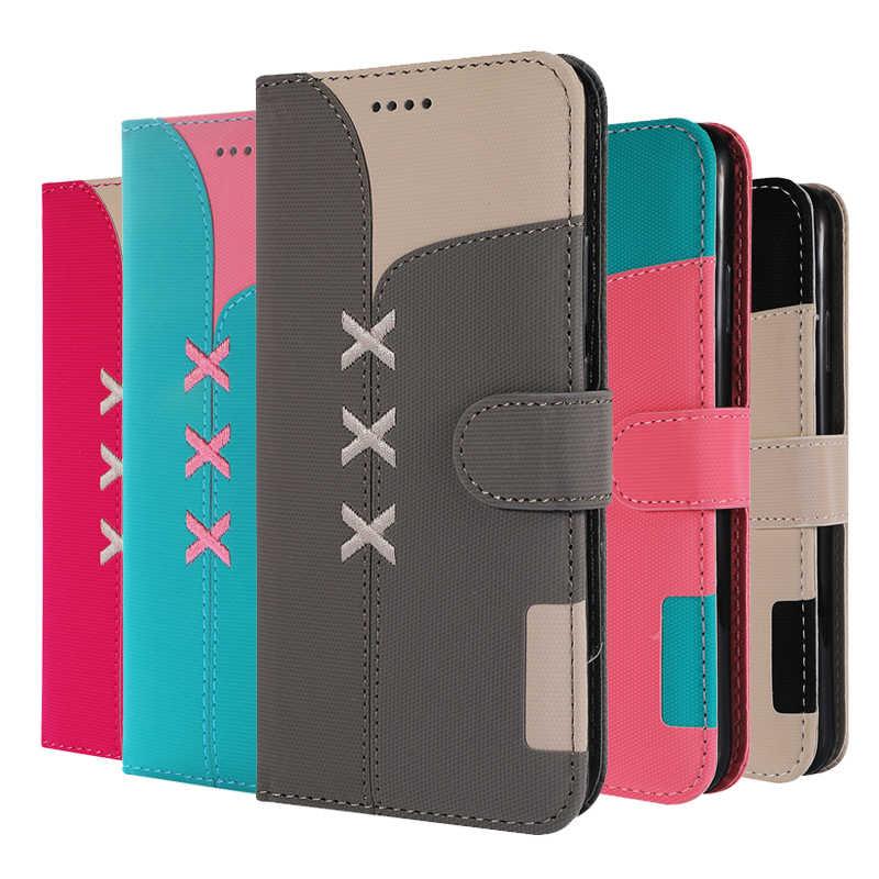 Dopasowanie kolorów odwróć PU skórzane etui do Apple iPhone 6 6S 7 8 Plus Smartphone dla iPhone X XR XS MAX portfel pokrywa Coque