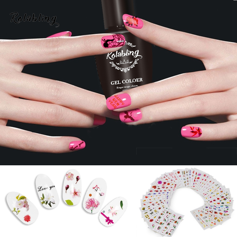 цены  40sheets Mix Nail Sticker & Decal Beauty Flower & Bowknot & Parrot Style Nail Art Water Decals Decoration DIY Acrylic Nail