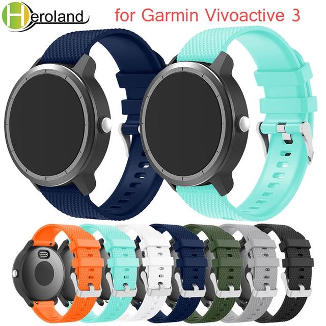 רצועת יד סיליקון גומי שעון להקת עבור Garmin vivoactive 3 החלפת רצועת השעון עבור Garmin vivoactive 3 צמיד צבעוני
