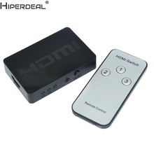 HIPERDEAL 3 Pelabuhan 1080 P Video HDMI Switcher Beralih Splitter IR Remote Untuk HDTV PS3 DVD EA Oct30HW(China)