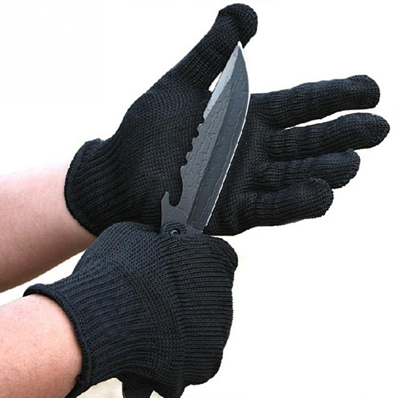Self Defense Gloves Proof Protect Stainless Steel Wire Safety Gloves Cut Metal Mesh Butcher Anti-cutting Breathable Work Gloves
