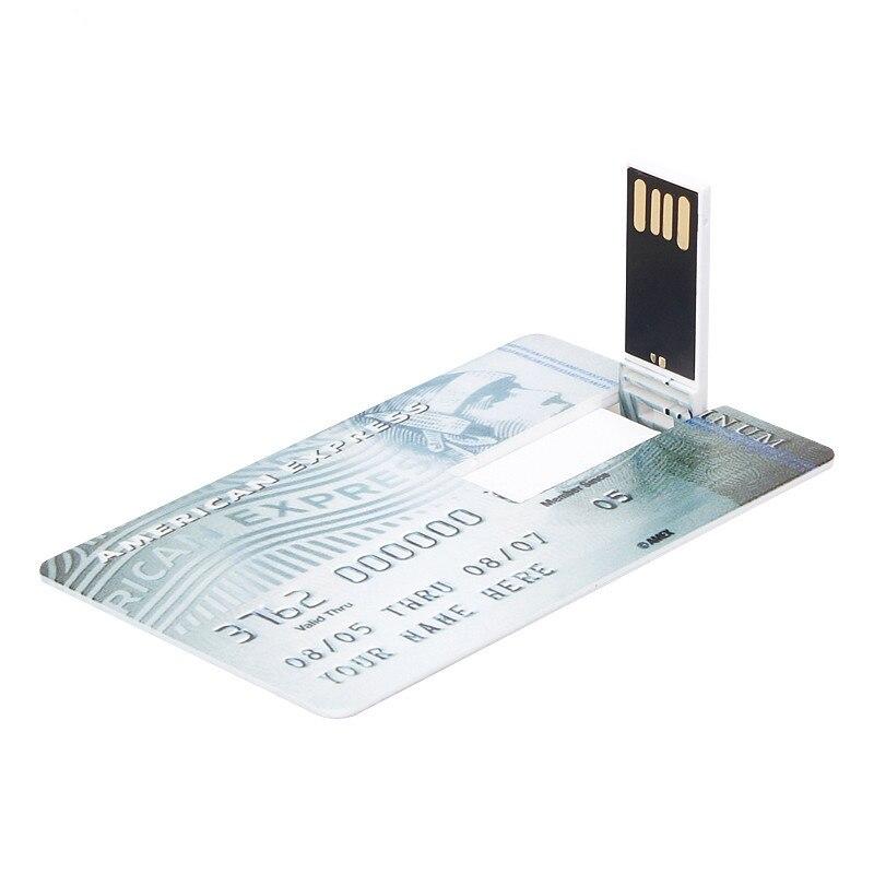Image 3 - New Super Slim Credit Card usb flash drive 2.0 key usb stick 32GB pen newest drive 8GB 16GB 64GB pendrive 128GB Free custom LOGO-in USB Flash Drives from Computer & Office