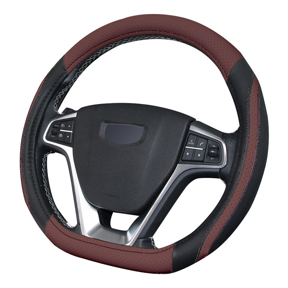 Cover On The Steering Wheel Microfiber Leather The Car Braid Case Steering Wheel Cover 38cm Universal Three Colors
