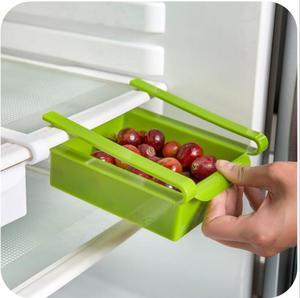 Image 4 - Étagère de salle de bain, Mini, ABS coulissante, congélateur pour réfrigérateur de cuisine, gain despace