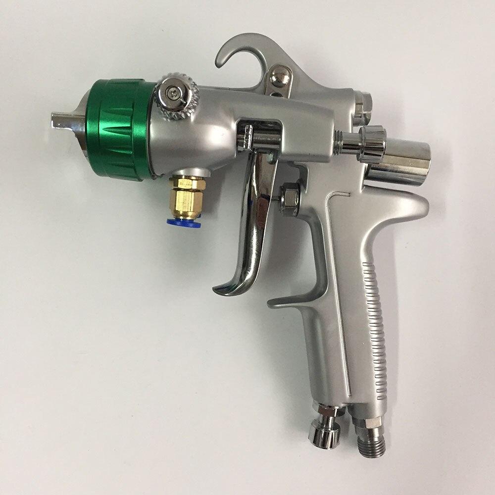 цена на SAT1189 professional double nozzle spray gun high pressure car paint gun air car painting gun dual head chrome plate paint gun