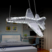 Creative aircraft children's room lamp boy simple chandeliers personality restaurant lights led girls room lights led fixture