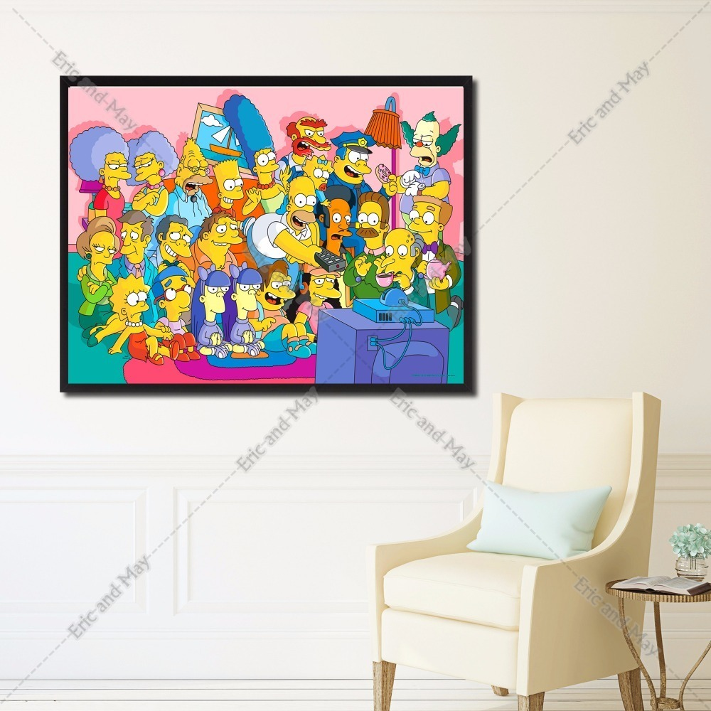 Simpsons Living Room Painting