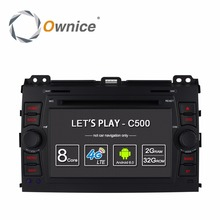 Ownice C500 Para Toyota Land Cruiser Prado 120 2002-2009 GPS Navi Radio de coche BT wifi de 4G LTE SIM 1024*600 Android 6.0 DVD jugador