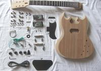 SG 400 style Unfinished DIY Mahogany Body Electric Guitar kit