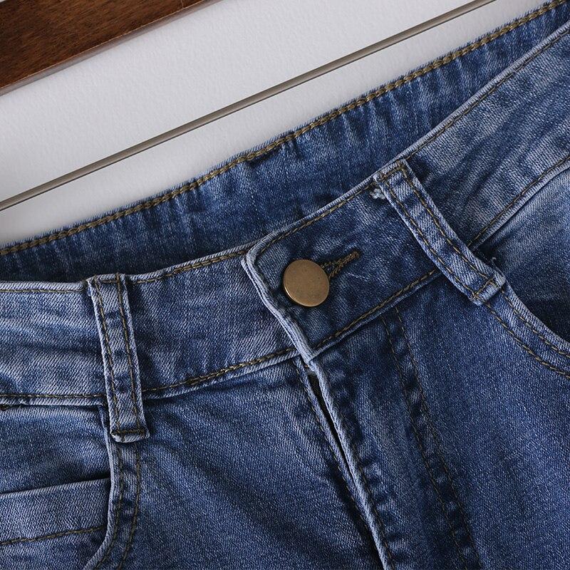 Jeans point N2219 Neuf Blue Déchiré Lavé Rayé Mince WnX4TAYXBq