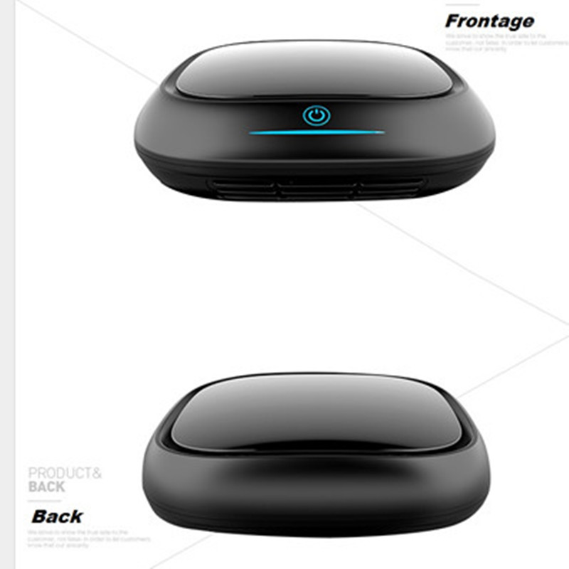 все цены на Free shipping  YMT-151 Black and White Small Car Air Purifier Remove Bad Smells Negative Ions Refreshing Air Ionizer from OHMEKA онлайн