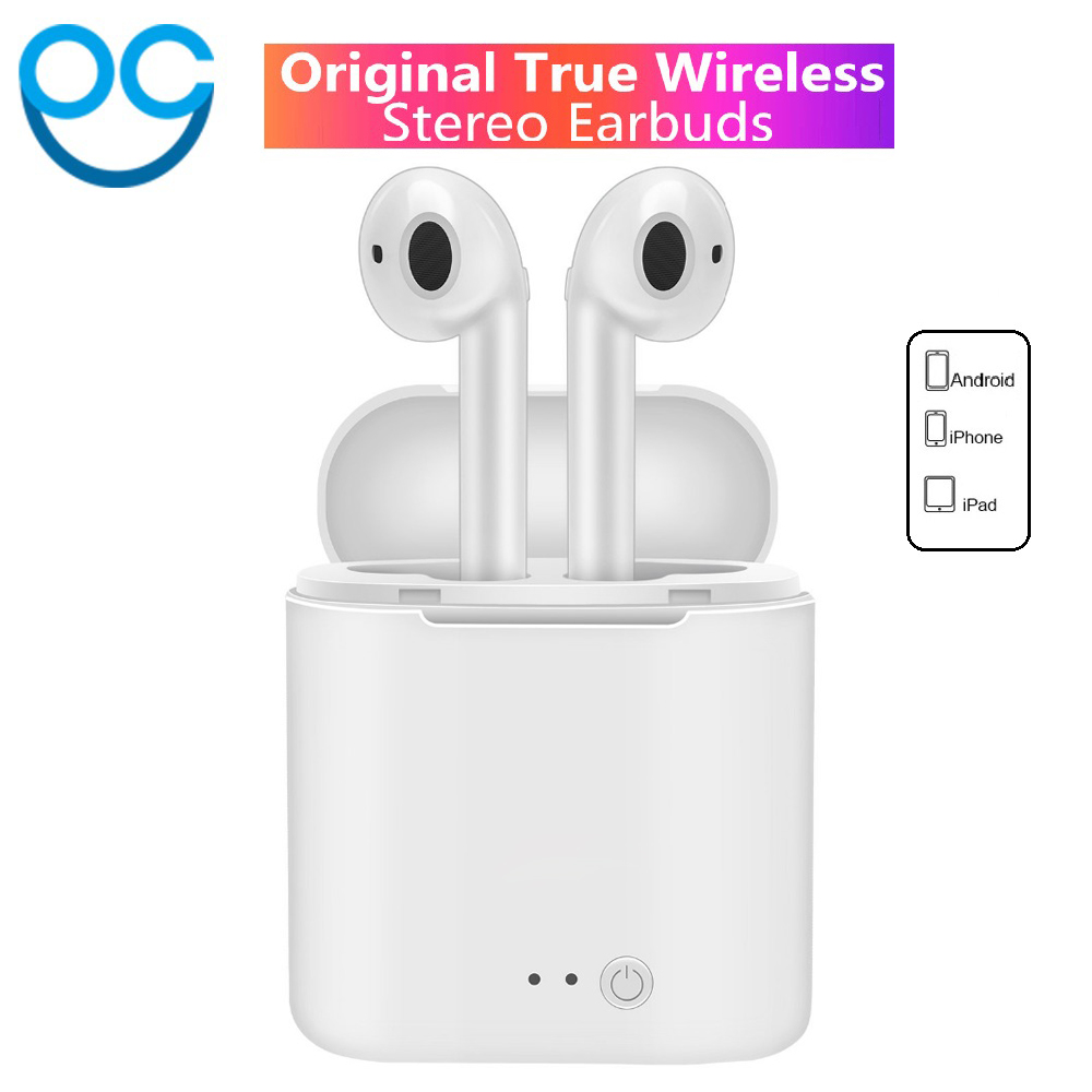 цены I7S Mini Twins Bluetooth Earphones wireless headphones Earbuds TWS Air pods In Ear sport headset stereo For iPhone 7/8/X xiaomi