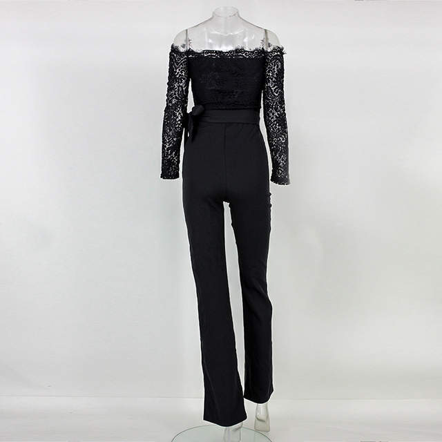 431aeb7f132 MUXU white jumpsuit lace body sexy jumpsuits for women europe and the  united states jumpsuits wide