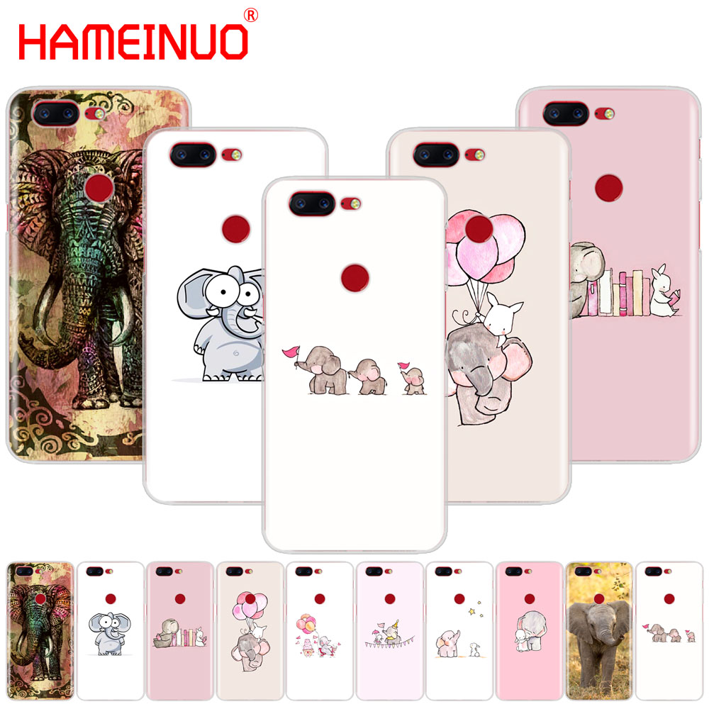 HAMEINUO Cartoon cute elephant and rabbit cover phone case for <font><b>Oneplus</b></font> one plus 6 5T <font><b>5</b></font> 3 3t 2 A3000 <font><b>A5000</b></font> image