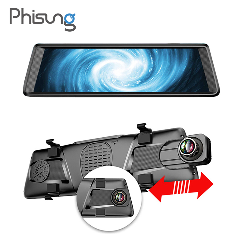 10 4G dashcam Android mirror dvr GPS navigation ADAS Full HD 1080P car video recorder with rear view camera Bluetooth wifi