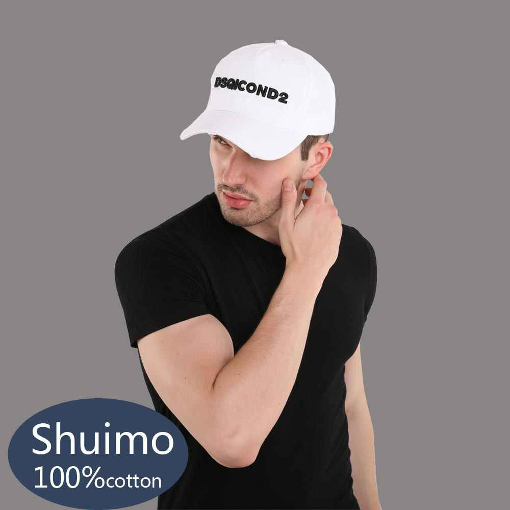 סיטונאי כותנה בייסבול Caps DSQ מכתבי כובע באיכות גבוהה גברים נשים לקוחות עיצוב DSQICOND2 לוגו כובע שחור לבן כובע אבא כובע