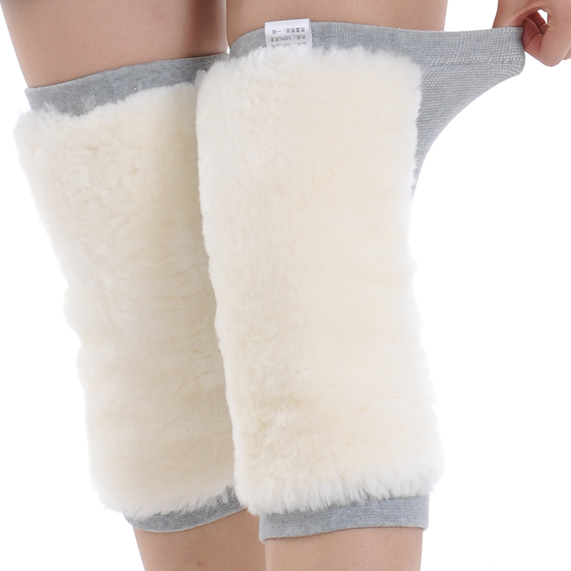 2017 Winter Warm Knee Protector Wool Leg Warmers Pain Relief Kneecap Prevent Arthritis Woolen Thermal Knee Pads Men Women 1 Pair pair of stylish button lace embellished hemp flowers knitted leg warmers for women