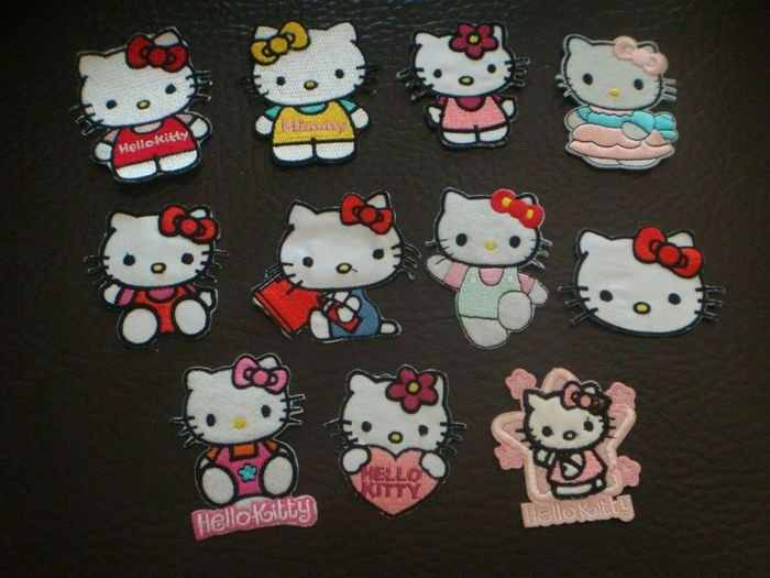 Hello Kitty Assorted Designs Embroidered Iron On Patch Applique Badge Chirldren Kids Patch wholesale Free Shipping