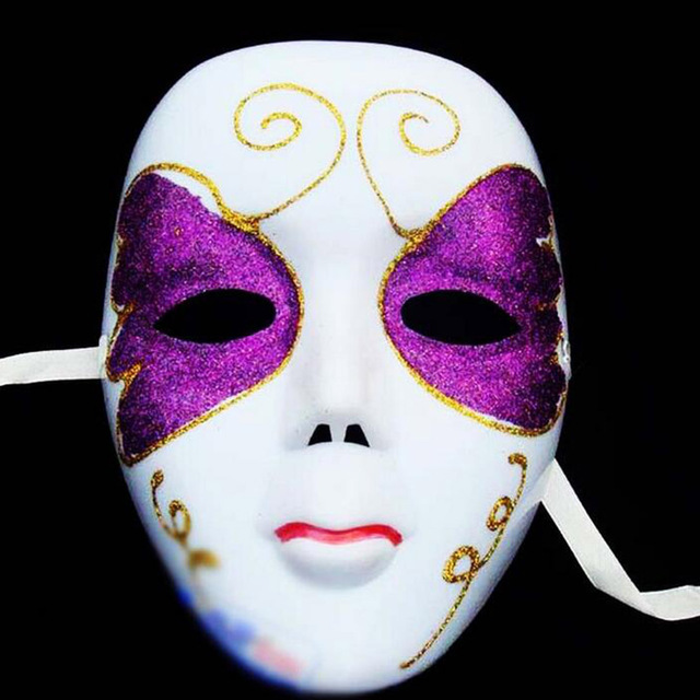 DIY Scary White Face Mask Halloween Masquerade Ball Party Costume Masks  Halloween Festival Mask For Women Random Style b1ea73aee9